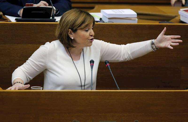 La presidenta del PPCV y portavoz del grupo popular, Isabel Bonig. EFE