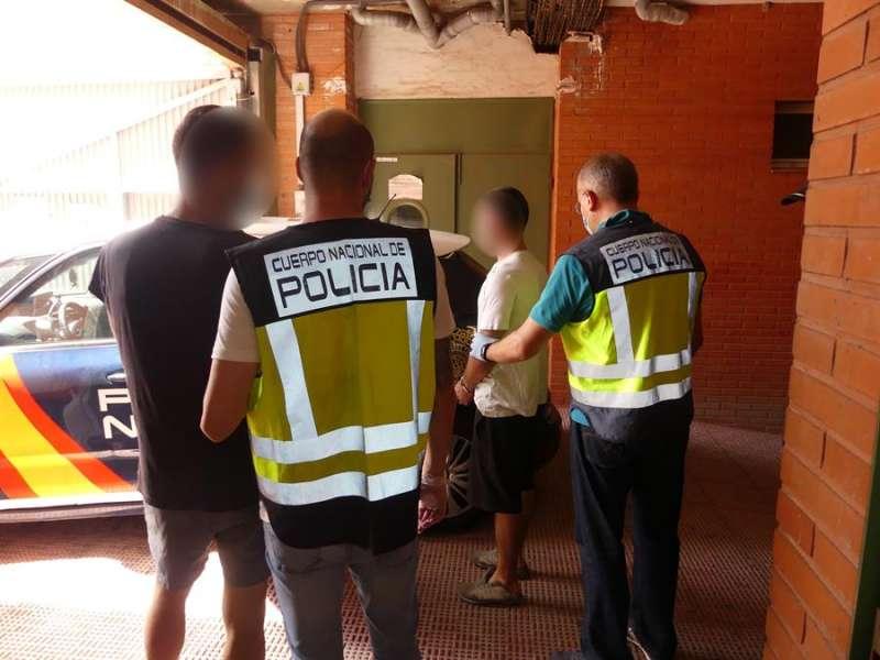 Un instante de la detención. EFE