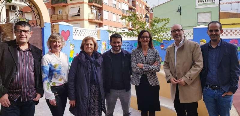 Visita del conseller i de la diputada als centres de La Ribera. EPDA