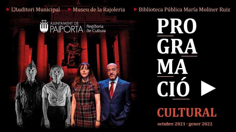 Cartell de la programació cultural de tardor a l?Auditori Municipal de Paiporta.