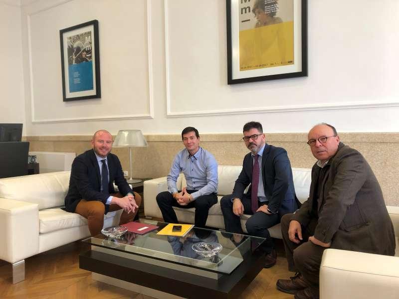 Gaspar, García, Altur y Ruiz, en la reunión. EPDA