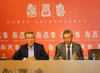 Torres y Toledo en la rueda de prensa. FOTO SOCIALISTESVALENCIANS.ORG