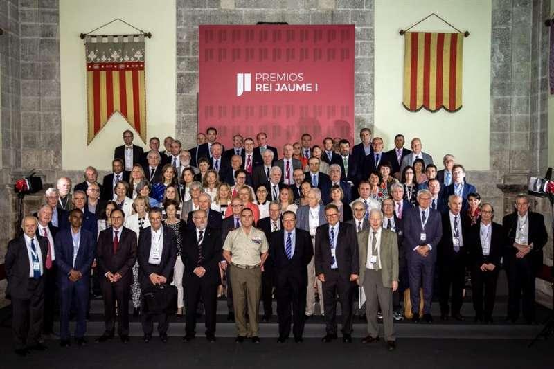 Imagen de los jurados de los Premios Rey Jaime I, entre ellos 19 premios Nobel, en la edición de 2019 celebrada en junio. EFE/Biel Aliño/Archivo