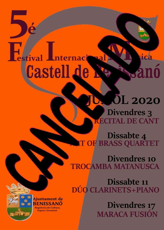 Cartell del FIM de Benissanó cancel·lat. / EPDA