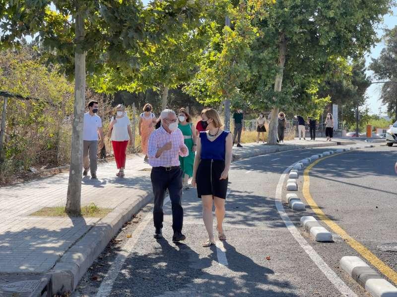 Visita a la finalización de las obras en Alboraya