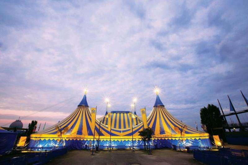 La carpa del Cirque du Soleil, en una imagen de la compañía.