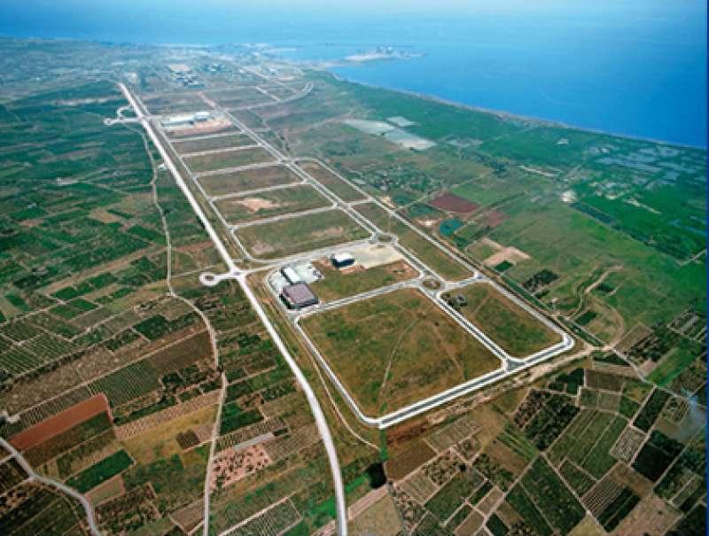Vista aérea del polígono industrial. EPDA