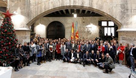 Recepción ofrecida por Alberto Fabra a la prensa con motivo de la Navidad. Foto gva.es