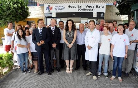 Nela García, presenta el programa Hospitalitis, que desarrolla Cruz Roja en colaboración con la Conselleria de Sanitat. Foto EPDA