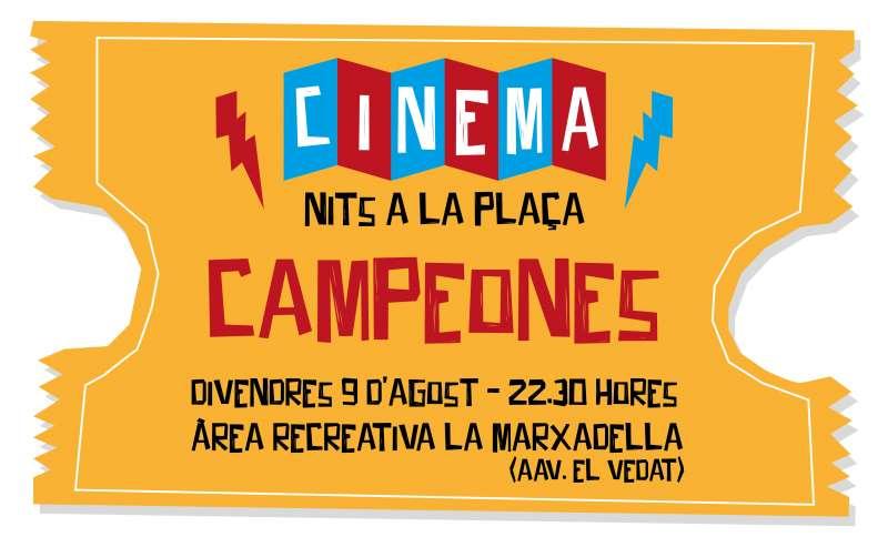 Cartel cine de verano.  EDPA