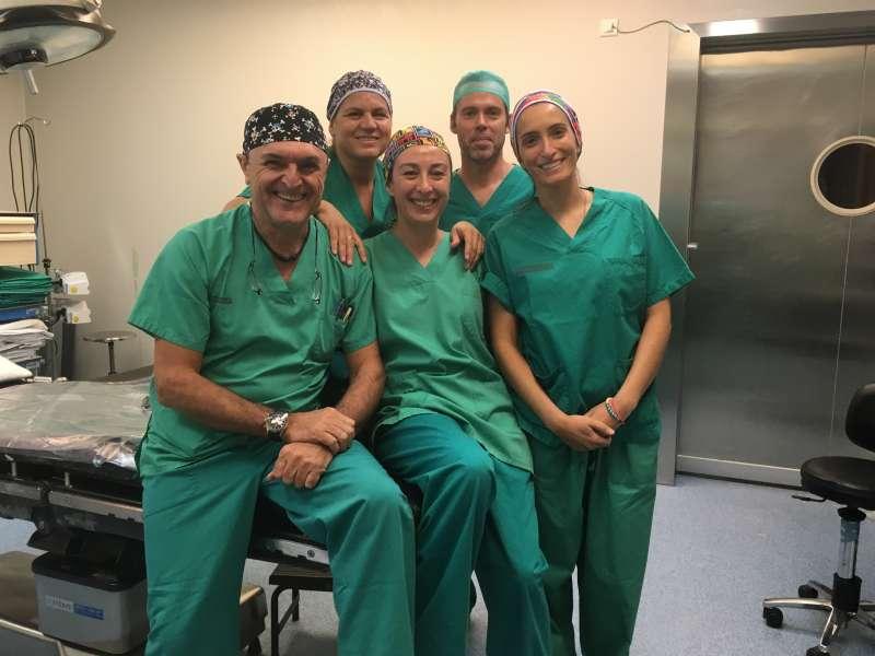 Personal sanitario del Hospital Clínico de València. EPDA