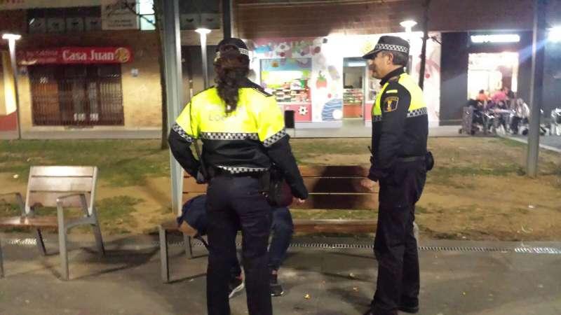 Control de drogas y estupefacientes por la Policía Local de Torrent.