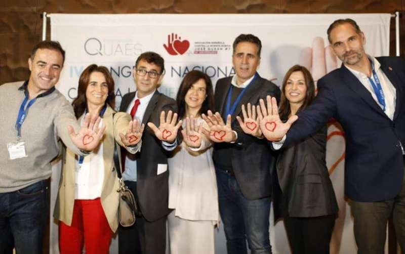 Javier Alonso, Isabel Fernández , José Durán, Miriam Pastor (directora Fundación QUAES), Miguel Indurain, Lorena Saus (miembro del patronato de Fundación QUAES)  y Víctor Luengo. EPDA