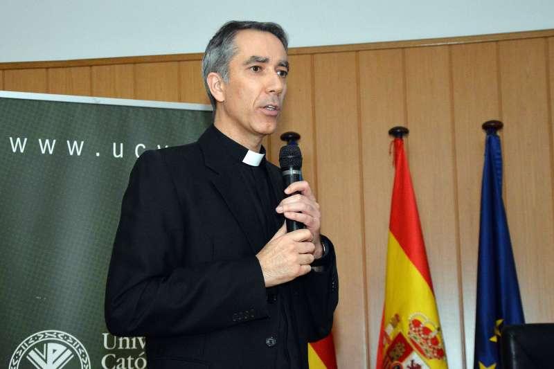 David Alcalde durante una charla. EPDA