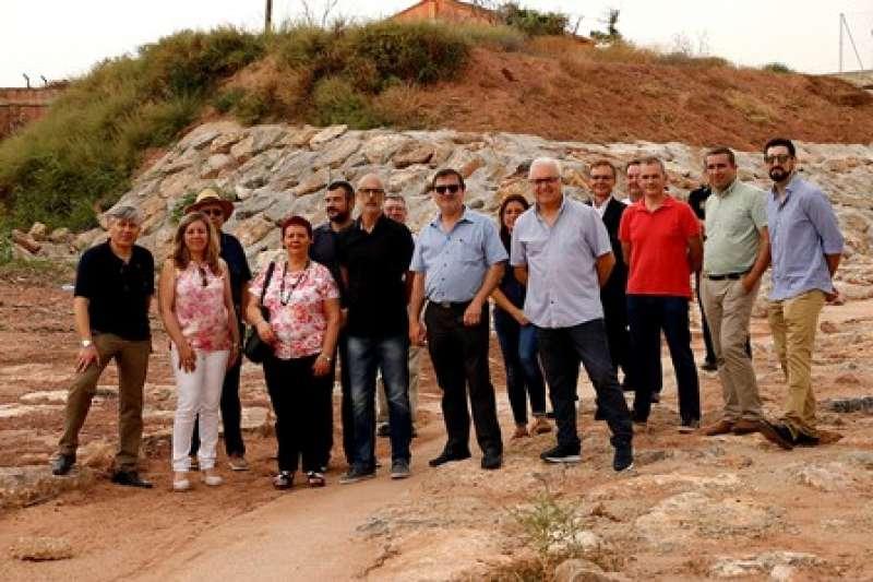 Visita a las obras del barranco de Puçol. EPDA