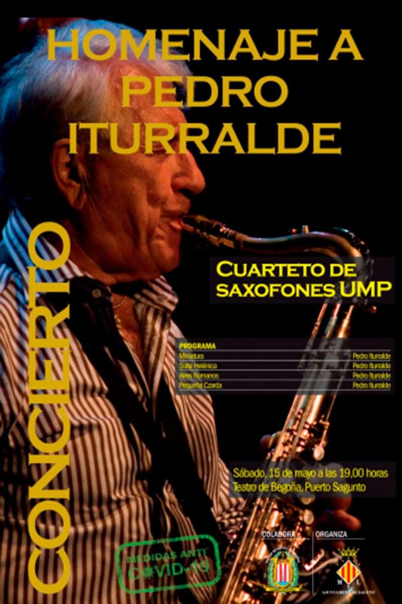 Cartel homenaje a Pedro Iturralde. / EPDA