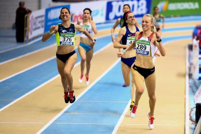 Prueba de 800 m femenino del Campeonato de España de atletismo. EFE/Archivo