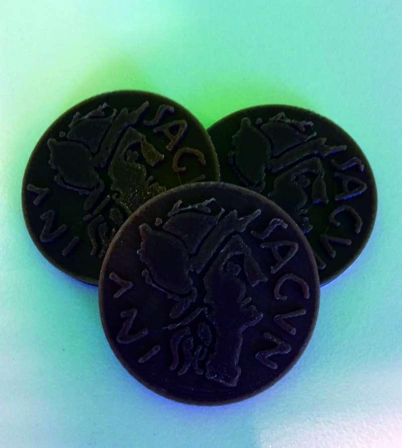 Monedas reproducidas en Sagunt. FOTO EPDA
