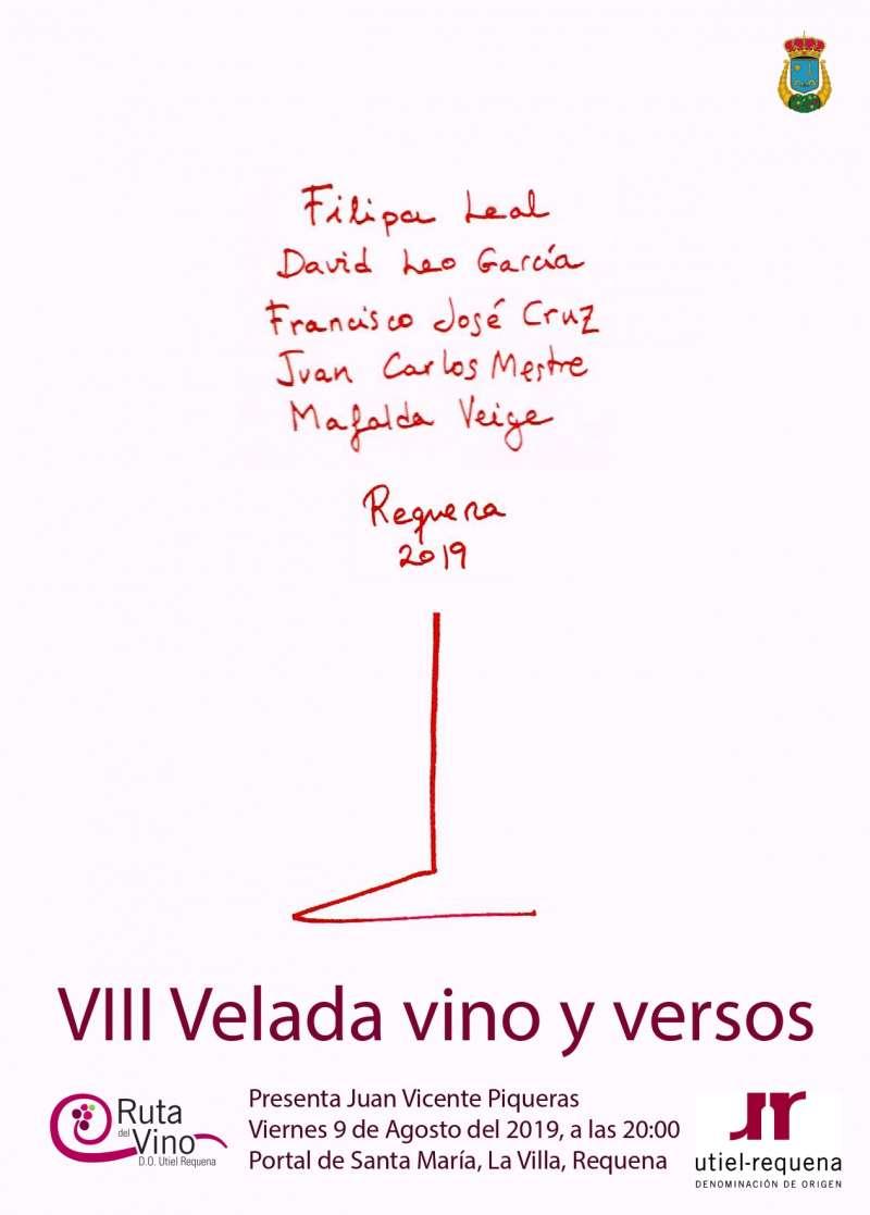 Cartel Velada vino y versos