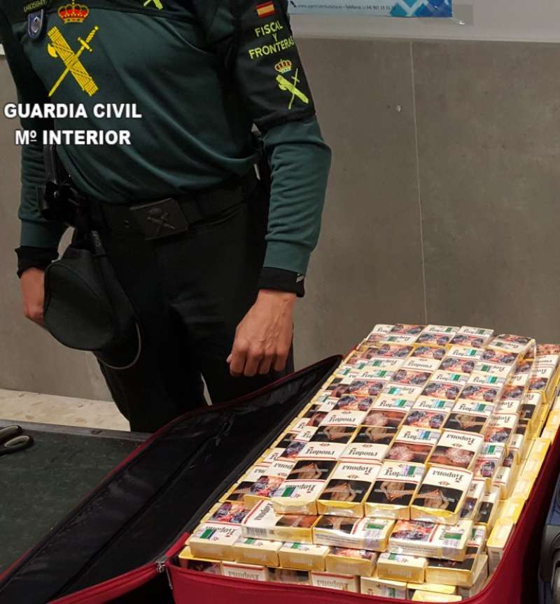 Tabaco incautado por la Guardia Civil