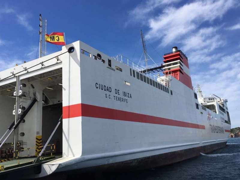 Imagen del ferry de Naviera Armas Trasmediterránea Ciudad de Ibiza. EPDA