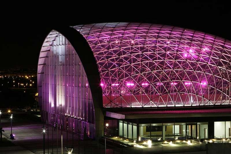 Detalle de la cúpula de Feria Valencia.