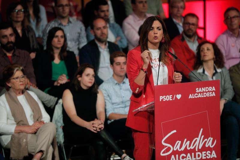 Sandra Gómez, durante la campaña electoral. EFE/Archivo