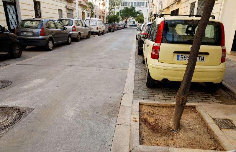 Escenario del crimen, en El Cabanyal (València). EFE