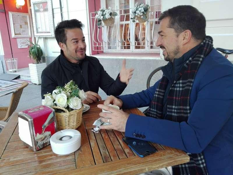 Sergio Alfaro junto a Pere Valenciano