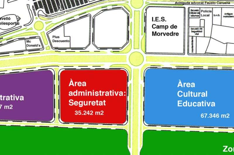Terrenos donde se ubicará la Ciudad de la Justicia de Sagunt.