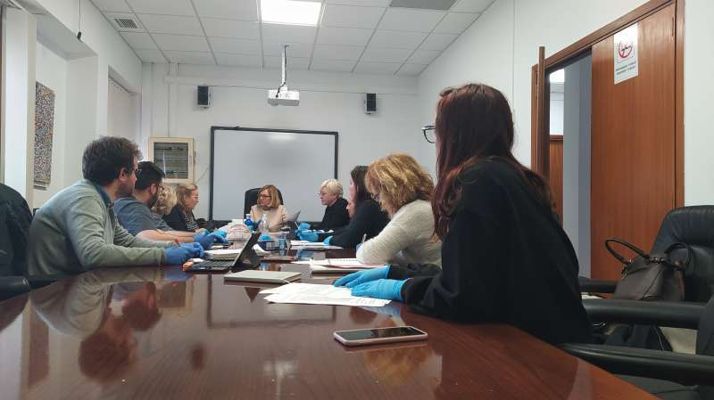 Reunión de la alcaldesa con varios empleados públicos. / EPDA