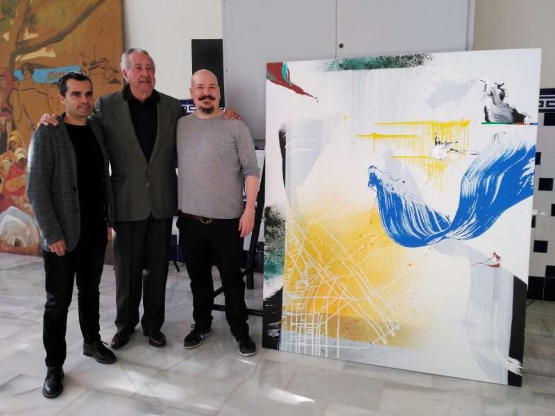 Los artistas con la obra
