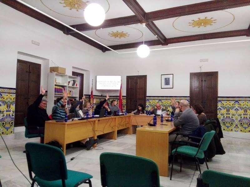 Los grupos votan en el pleno de presupuesto. EPDA