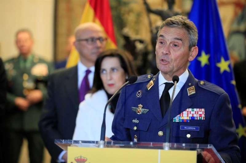 Fotografía de archivo del hasta ahora jefe del Estado Mayor de la Defensa (JEMAD), general Miguel Ángel Villaroya.