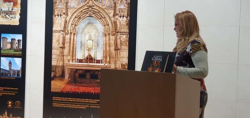 Ana Mafé durante su exposición. EPDA