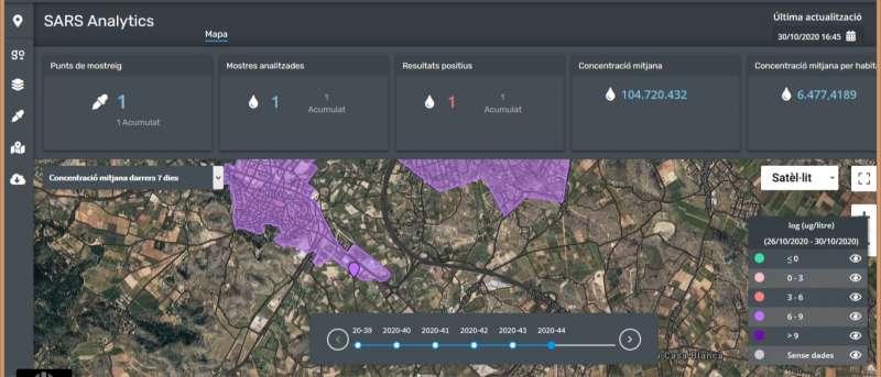 Mapa análisis de COVID-19 en Llíria. / EPDA
