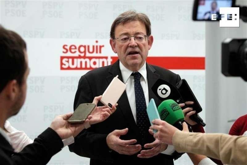 Ximo Puig, antes de presidir la reunión de la comisión ejecutiva nacional de su partido en València. EFE
