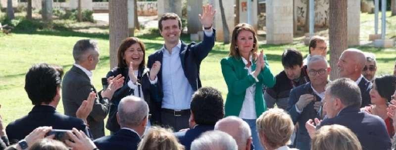 Bonig en un acto con Casado en Castelló. EPDA