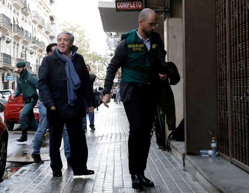 El abogado valenciano José María Corbín, cuñado de la fallecida exalcaldesa de València Rita Barberá, el día de su detención.