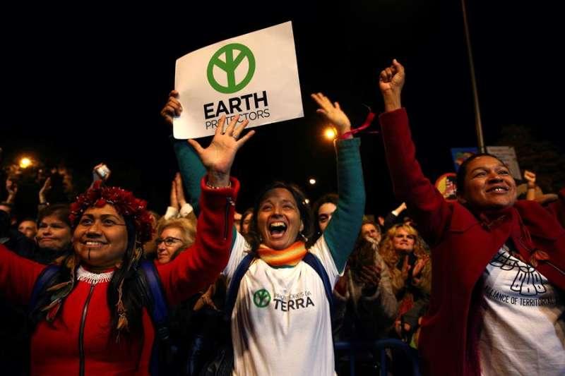Participantes en una Marcha por el Clima. EFE