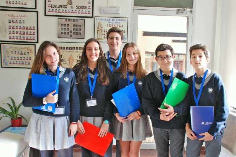 Alumnos del colegio Edelweiss. //epda