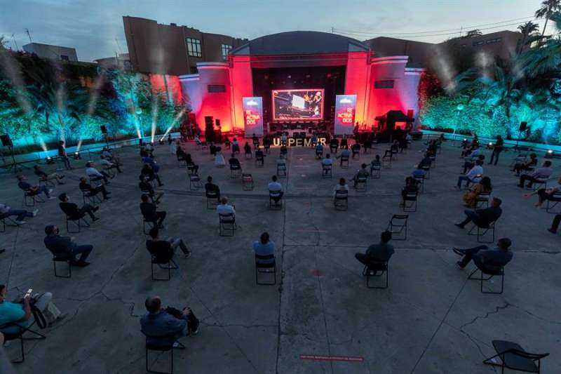 Un evento musical al aire libre tras el confinamiento. EFE/Marcial Guillén/Archivo