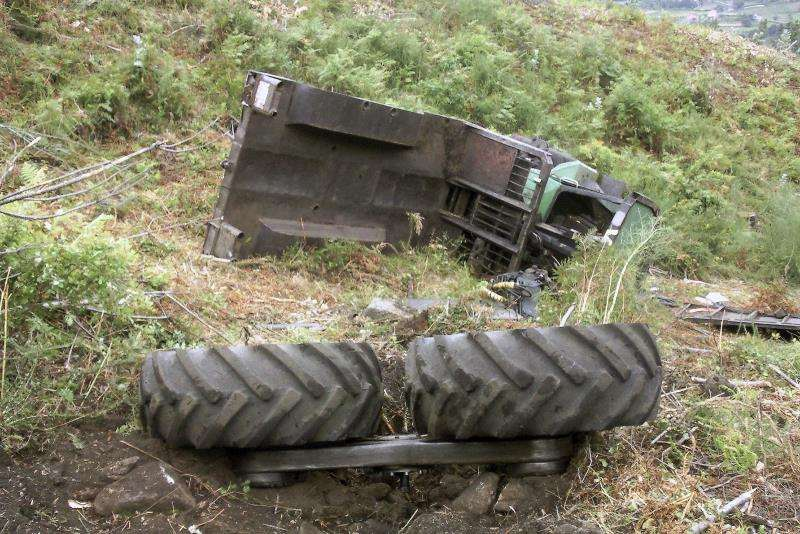Accidente de un tractor. EFE/ Archivo