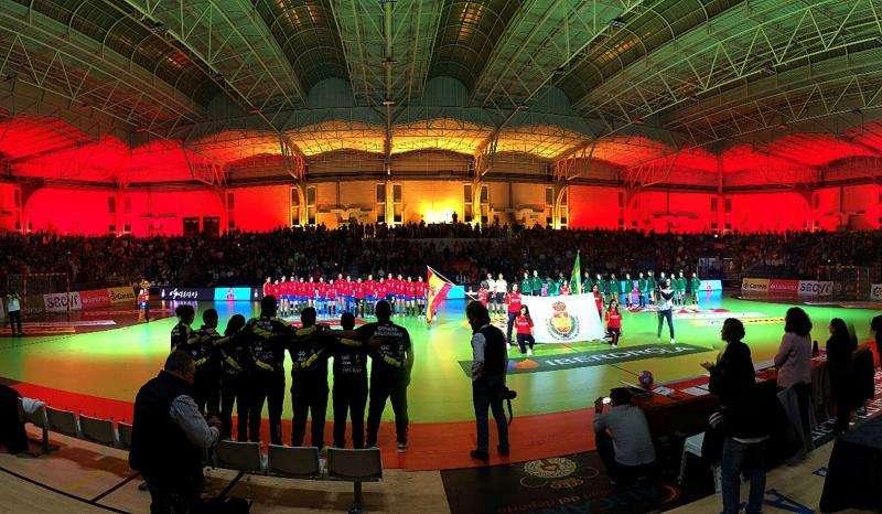 El pabellón Pitiu Rochel, en una imagen de la Real Federación Española de Balonmano.