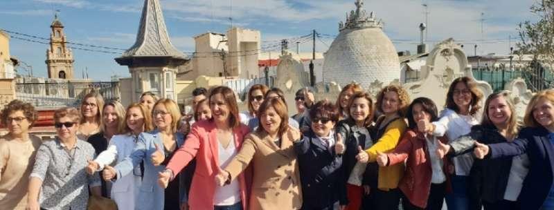 Acto con mujeres candidatas del PP en la provincia de Valencia este sábado.