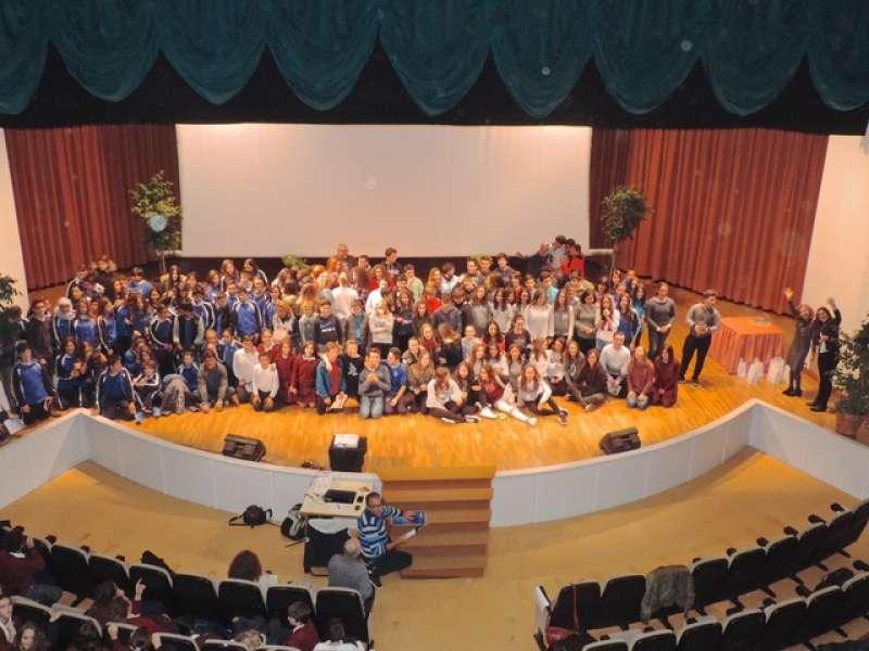 Tots els alumnes que han participat en este concurs.//EPDA