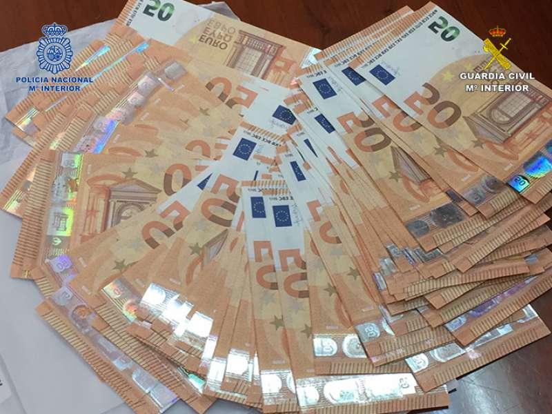 Imagen del dinero requisado