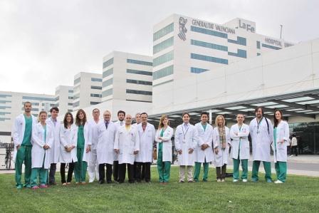 El equipo del Servicio de Quemados del Hospital La fe.