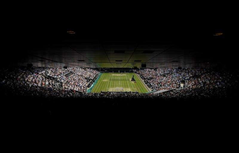 Vista general de una de las pista del All England Club, escenario del torneo de Wimbledon. EFE/Archivo