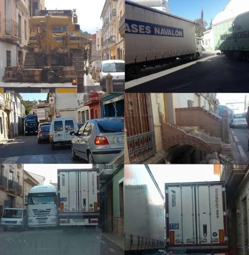 Algunos de los atascos producidos en Pedralba. EPDA.